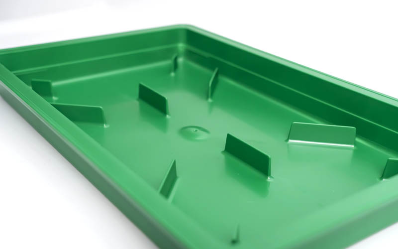 Bottomwater tray edges