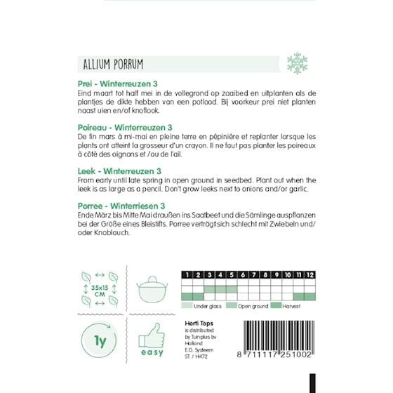 leek winterreuzen 3 growing instructions
